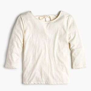 J. Crew Tops - NWT J. Crew Women's Tie-Back T-shirt